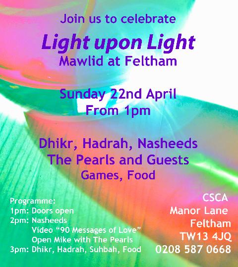 Celebrate Light upon Light Mawlid at Feltham